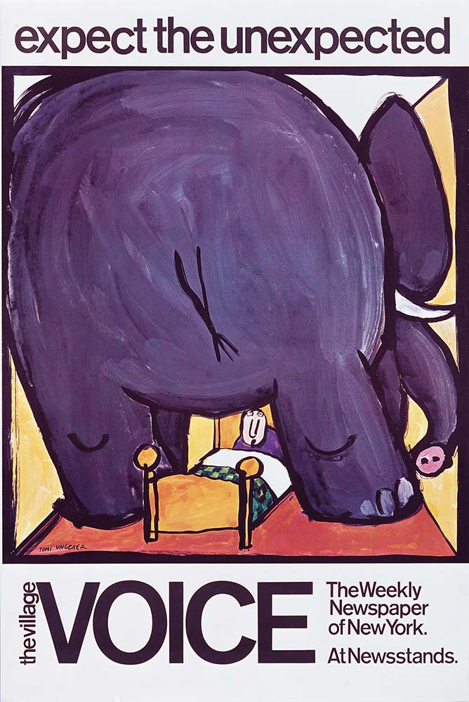 Tomi Ungerer affichiste. Expect the Unexpected